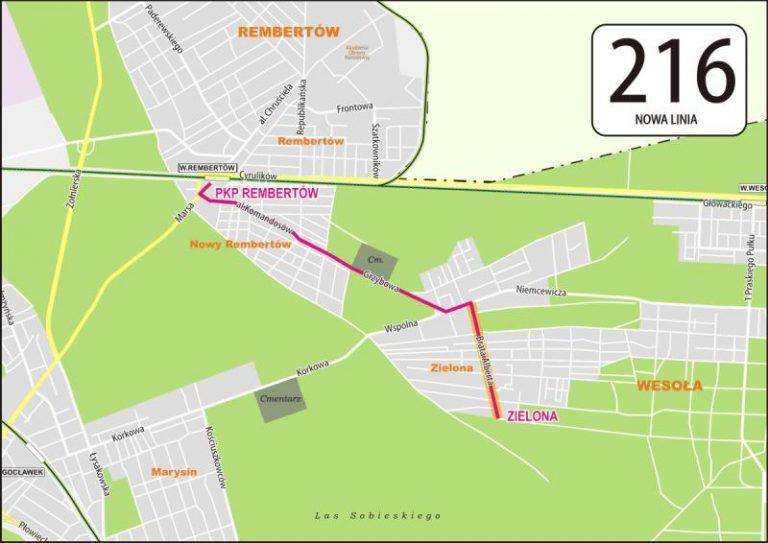 Nowa linia łącząca Rembertów i Wesołą