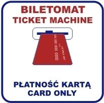 stary wzór piktogramu płatności w biletomacie wyłącznie kartą