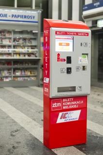 automat biletowy firmy MENNICA POLSKA