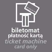 wzór piktogramu płatności w biletomacie wyłącznie kartą