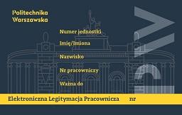 wzór legitymacji pracowniczej Politechniki Warszawskiej