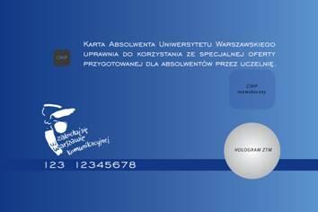 wzór rewersu Karty Absolwenta Uniwersytetu Warszawskiego