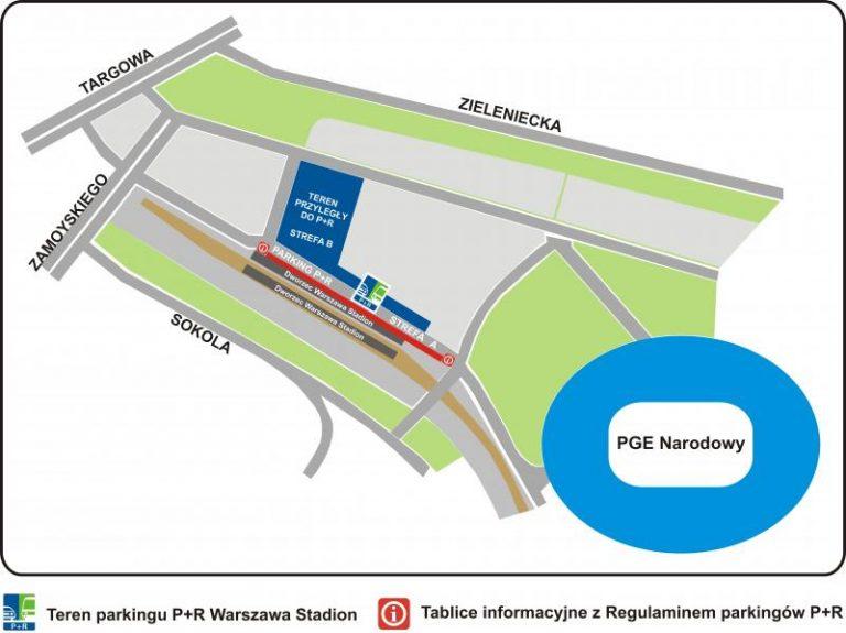 Parking P+R WARSZAWA STADION