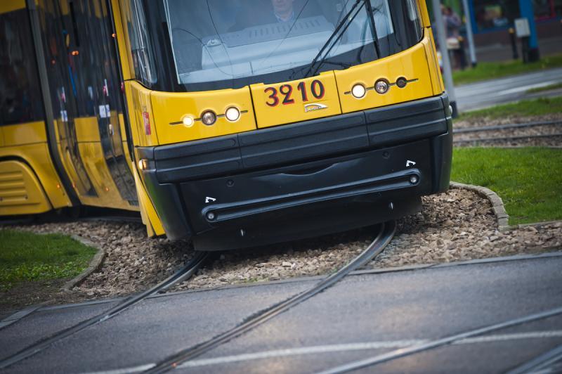 zdjęcie czoła tramwaju