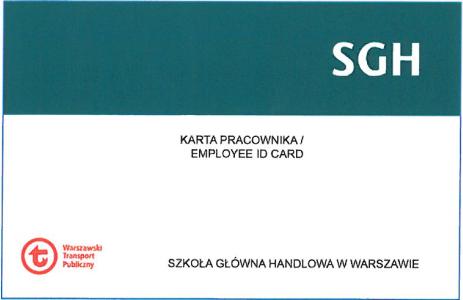 wzór karty pracownika SGH