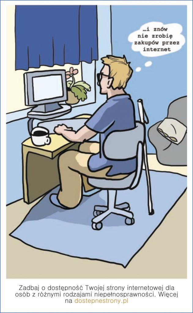 Zadbaj o dostępność Twojej strony internetowej dla osób z różnymi rodzajami niepełnosprawności. WIęcej na dostepnestrony.pl