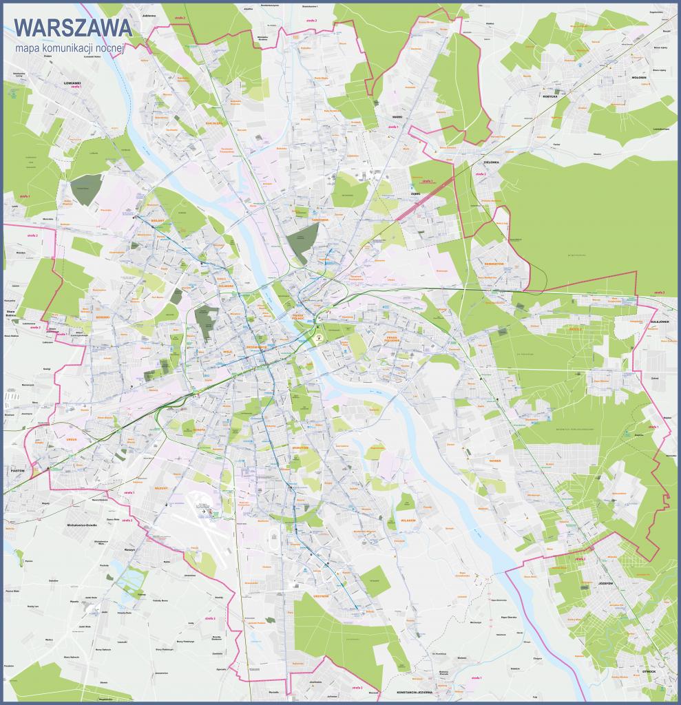 Night transport map