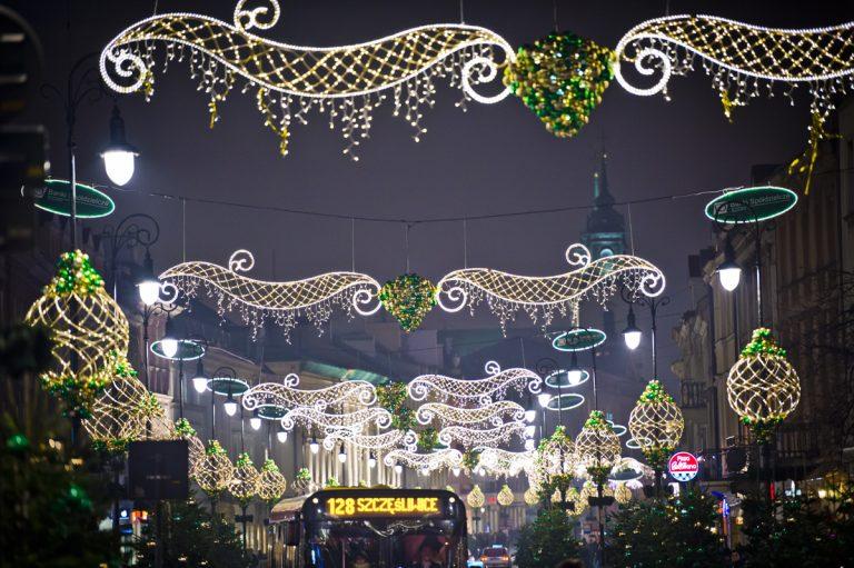 Świąteczny spacer Krakowskim Przedmieściem