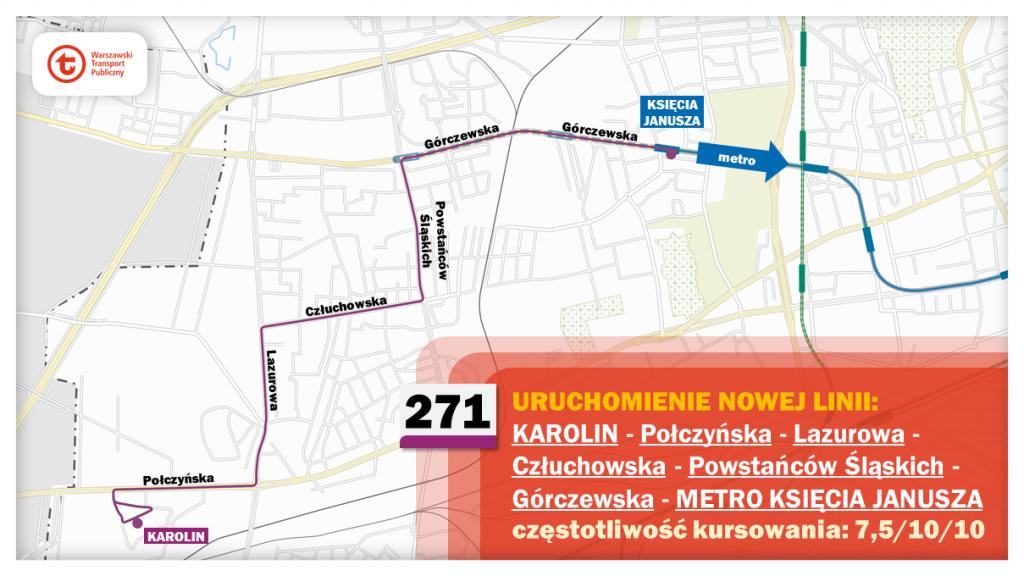 Schemat proponowanych zmian dla linii 271