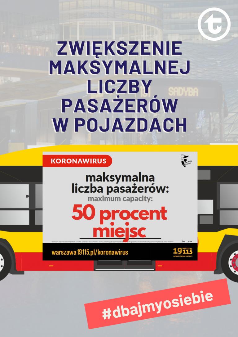 Od 1 czerwca więcej pasażerów w pojazdach WTP