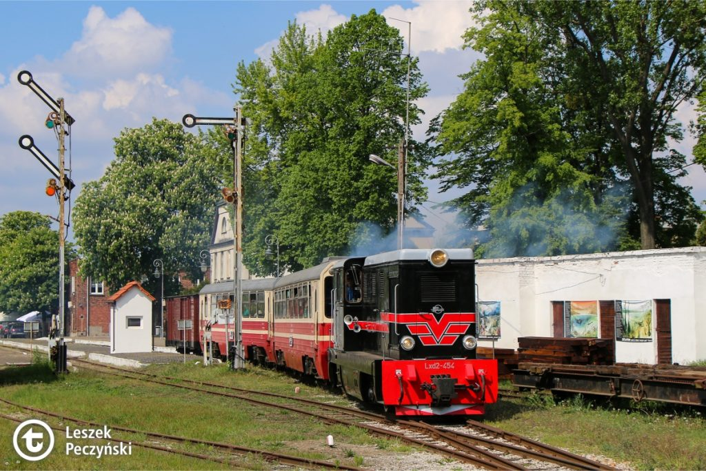 Narrow-gauge train with the locomotive Lxd2-454