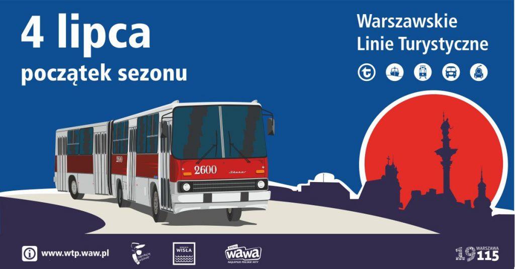 grafika promocyjna WLT 2020 - autobus marki Ikarus