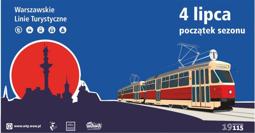 grafika promocyjna WLT 2020 - tramwaj linii T