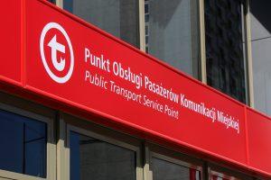 logo Punktu Obsługi Pasażerów POP ZTM