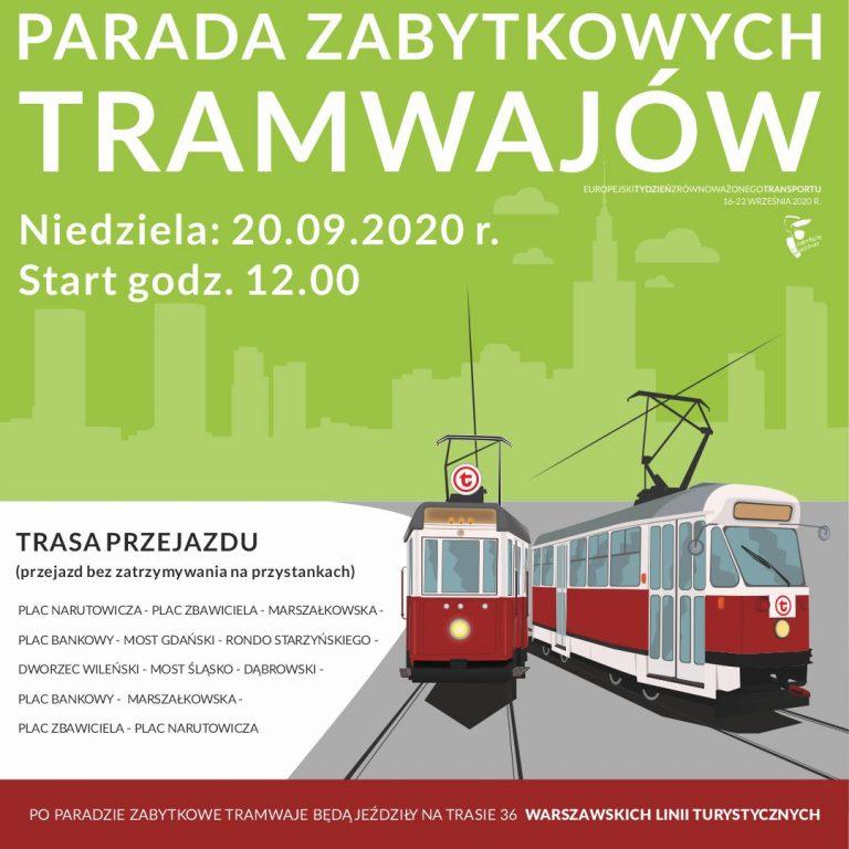 Zabytkowe tramwaje przejadą przez stolicę