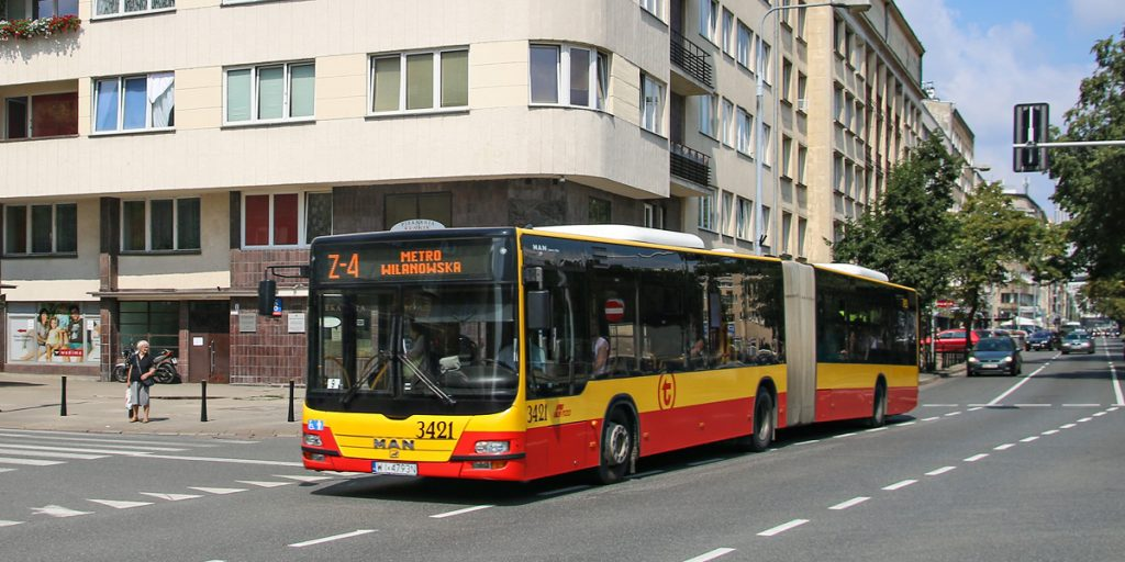 a substitute bus, with the line number beginning with the letter Z