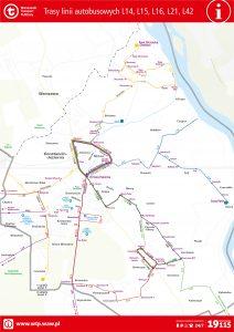 """schemat linii lokalnych """"L"""" w Konstancinie-Jeziornej"""