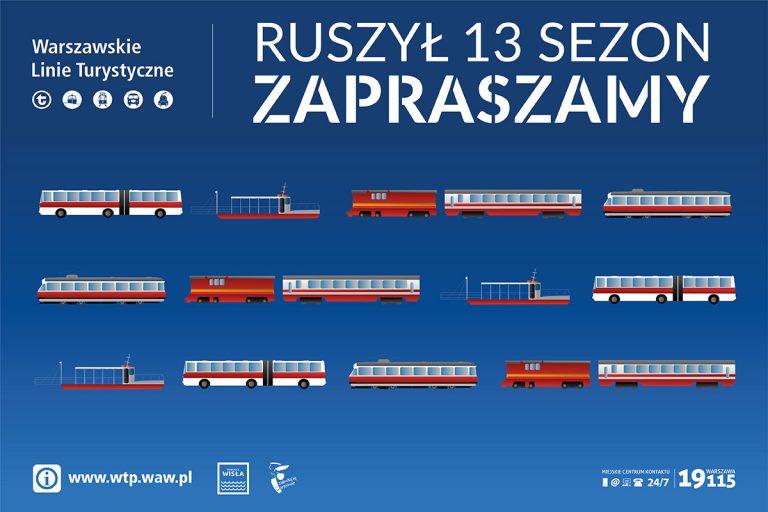 Plakat 13-go sezonu Warszawskich Linii Turystycznych