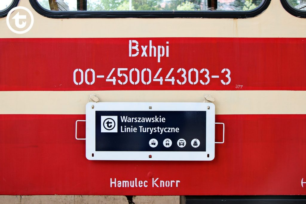 Warsaw Tourist Lines board on one of the narrow-gauge carriages