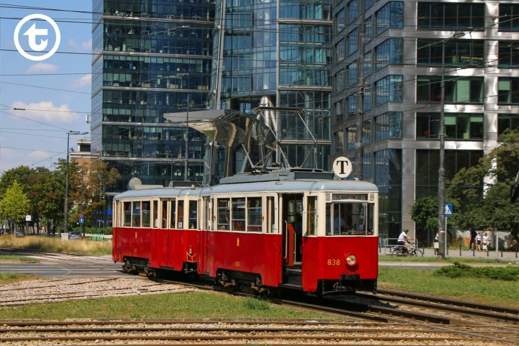 Vintage tram on route T