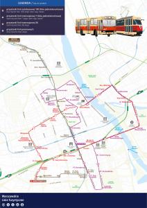 schemat Warszawskich Linii Turystycznych 2021