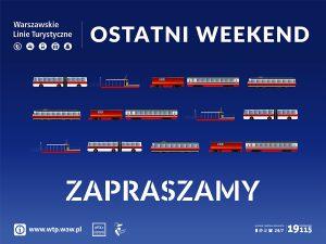 """Grafika Warszawskich Linii Turystycznych z napisem """"Otatniweekend - Zapraszamy"""""""