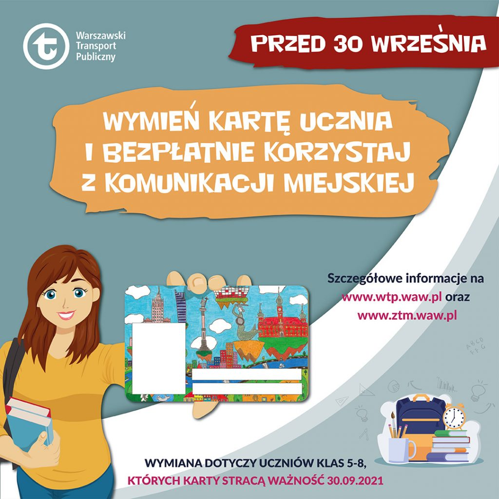 Plakat o wymianie Karty Ucznia